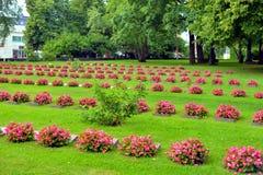 老军事公墓在拉彭兰塔 免版税库存照片
