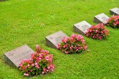 老军事公墓在拉彭兰塔 免版税图库摄影