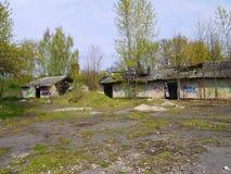 老军事在拉脱维亚 免版税图库摄影