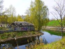 老军事在拉脱维亚 免版税库存图片