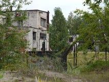 老军事在拉脱维亚 免版税库存照片
