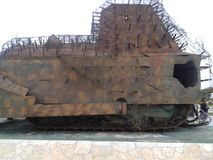 老军事坦克在斯里兰卡 免版税库存照片
