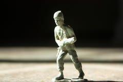 老军队战士玩具 库存照片