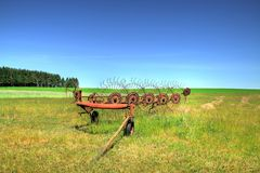 老农业机械 免版税库存照片