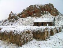 老农厂房子 图库摄影