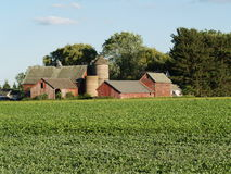 老农厂房子 库存图片