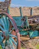 老农厂无盖货车在中南部的华盛顿仍然显示它明亮的颜色 库存照片