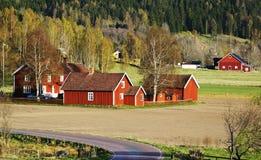 老农场和村庄, 17世纪 免版税库存照片