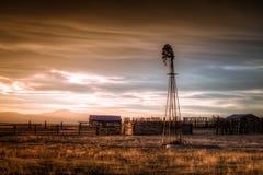 老农场在国家 库存照片