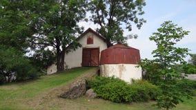 老农场在Turaida在拉脱维亚 库存照片