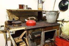 老农舍厨房 免版税库存照片