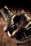 老冰鞋 修饰在葡萄酒样式 免版税库存照片
