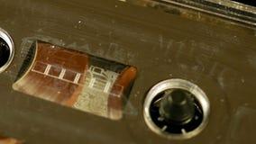 老减速火箭的紧凑卡式磁带葡萄酒音频记录器 影视素材