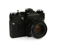 老减速火箭的35mm影片slr照相机 免版税图库摄影