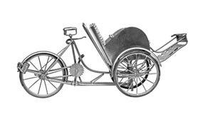 老出租汽车自行车 免版税库存照片