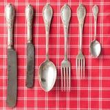 老刀叉餐具 库存图片