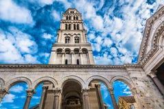老分裂大教堂在克罗地亚,欧洲 免版税库存图片