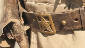 老制服 星军用老制服 星形 二战俄国人官员衣物  股票录像