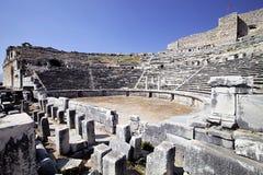 老剧院在Milet, Turkay 免版税库存照片