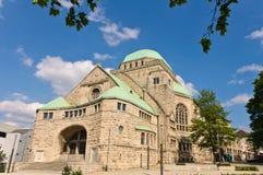 老副犹太教堂视图 免版税库存照片