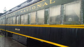 老加拿大全国(CN)牙齿列车车箱 免版税库存图片