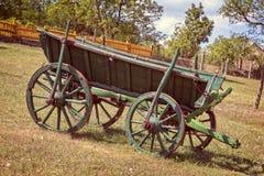 老匈牙利马支架在围场 免版税库存照片
