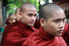 老化修士青少年的缅甸 库存照片