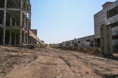 老化工厂的爆破 库存图片