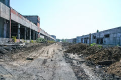 老化工厂的爆破 库存照片