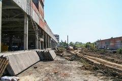 老化工厂的爆破 免版税库存图片