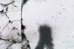 老化被绘的墙壁经典难看的东西纹理  免版税库存照片
