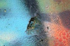 老化被绘的墙壁经典难看的东西纹理  免版税图库摄影