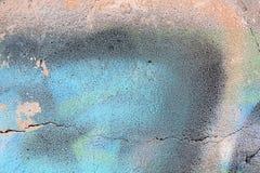 老化被绘的墙壁经典难看的东西纹理  免版税库存图片