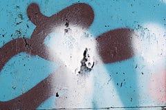 老化被绘的墙壁经典难看的东西纹理  图库摄影