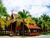 老北样式的泰国房子 免版税库存照片