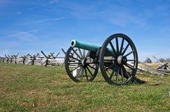 老南北战争大炮 免版税库存图片
