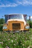 老卡车在草甸 库存图片