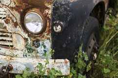 老卡车车灯 库存照片