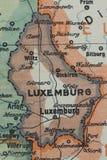 老卢森堡世界大战1915年地图 库存照片