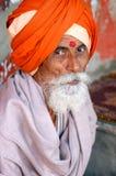 老印地安人美丽的画象  库存图片