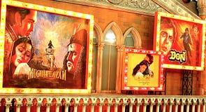 老印地安戏院海报,文化沟壑 库存图片