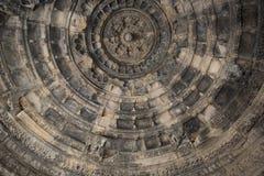 老印度SasBahu寺庙在拉贾斯坦,在乌代浦附近,印度 库存照片