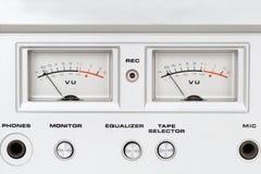 老卷轴录音机控制板  图库摄影
