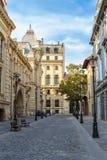 老历史中心布加勒斯特,罗马尼亚 免版税库存图片