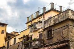 老历史房子在佛罗伦萨,意大利 免版税库存图片