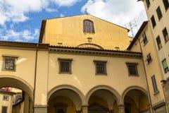 老历史房子在佛罗伦萨,意大利 库存图片