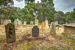 老历史的公墓 免版税库存图片