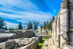 老历史的废墟在克罗地亚 库存照片