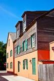 老历史的房子街市圣奥斯丁 库存照片