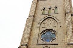 老历史的教会在农村乡下 库存图片
